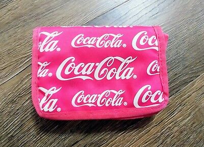 Vintage Coca Cola Coke wallet coin purse organizer clutch logo nylon
