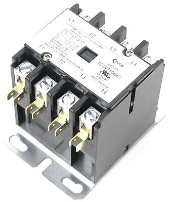 Cn-Pbc404-24V Definite Purpose Contactor 40Amp 4Pole 24V Coil 40 Fla 50 Res