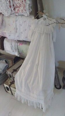 Vintage christening gown- gorgeous embroidery and lace details.
