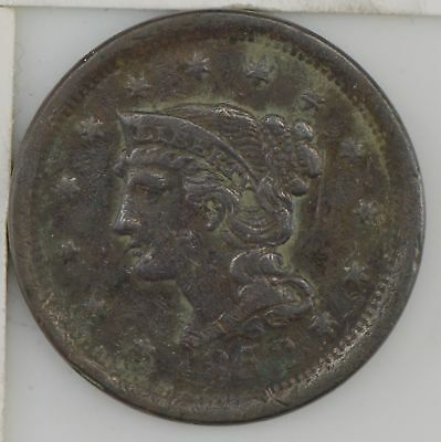 1852 Braided Hair Large Cent *729