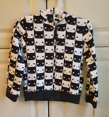 Girls Hoodie  Size X Small (4-5) or Small (6-6X) Cat with Ears *NEW!* Cat & Jack