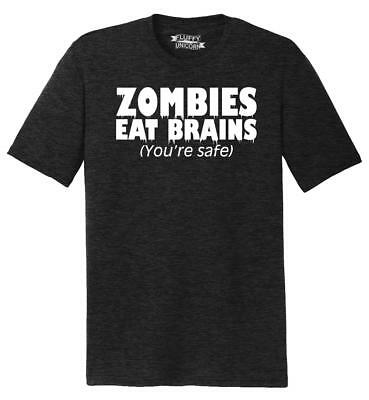 f095b204517a MENS ZOMBIES EAT Brains So You're Safe Funny T Shirt Living Dead ...
