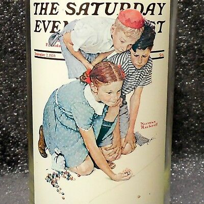 """Norman Rockwell Arby's Collectors Glass """"Knuckles Down"""" Saturday Evening Post"""