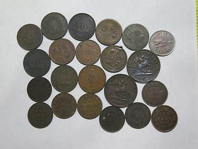 Canada Large Cent Half Penny Tokens Quebec Fisheries Sou Mix Coin Collection Lot