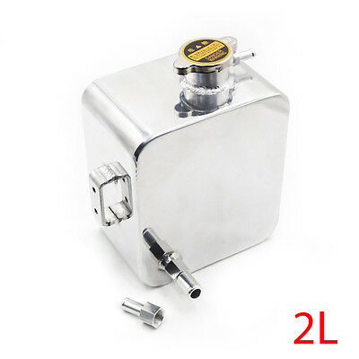 Universal 2L Aluminium Alloy Water Coolant Header Overflow Expansion Tank can