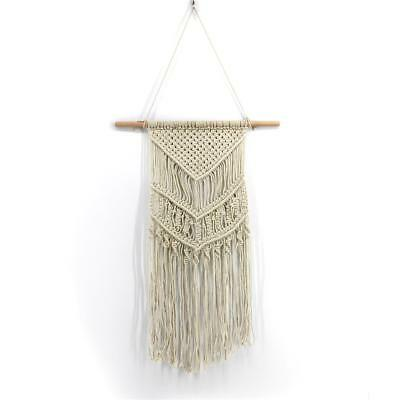 Natural Cotton Handmade Macrame Wall Hanging Tapestry Rope Bohemian Room Decor