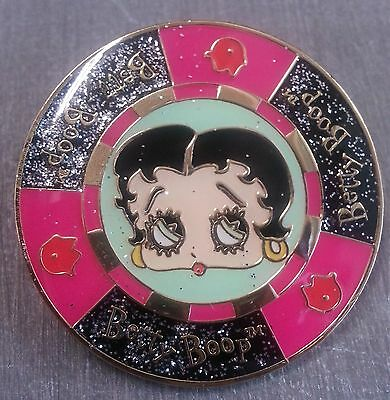 Betty Boop Poker Chip Lapel Pin