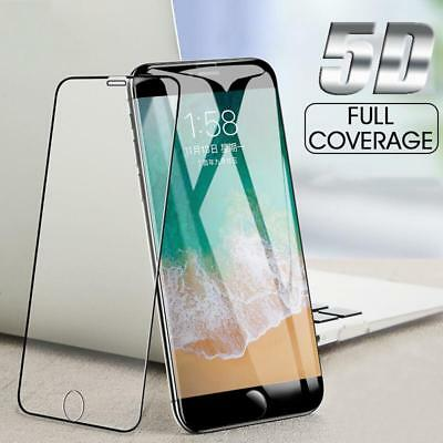 5D Round Full Cover Tempered Glass Screen Protector  Apple iPhone 6 7 8  Plus X