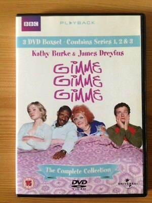 Gimme, Gimme, Gimme - The Complete Collection, All 3 Series. Great Condition DVD