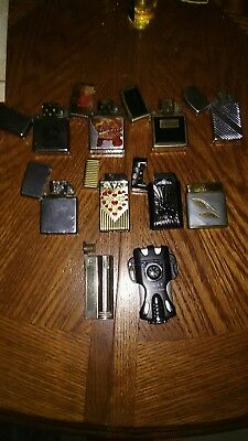 Vintage ZIPPO Lighter Collection Lot of 5 and other misc lighters