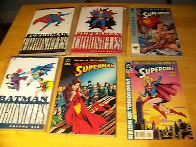 Batman and Superman Chronicles +Death of Superman and World Without Superman Lot