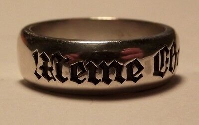 Silver 900 German Ring Repro Size 7-16 Free Engraving