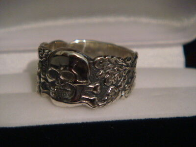 Silver 900 German Ring Repro Size 7-16 Free Engraving Signature/runes/text
