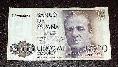 Espana Spain 5000 Pesetas 1979 Note