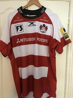 Gloucester Rugby Player Issue Match Shirt