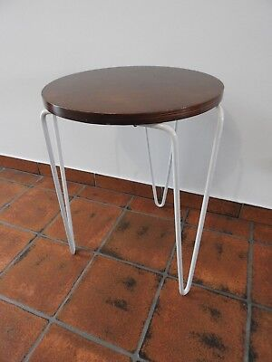 Knoll Florence Knoll Original Hairpin Stacking Stool Super Rare With Label #75