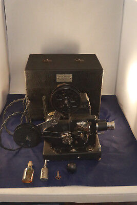 Vintage AGFA Ansco 16mm Movie Film Projector w/ Case & Oilers Tested