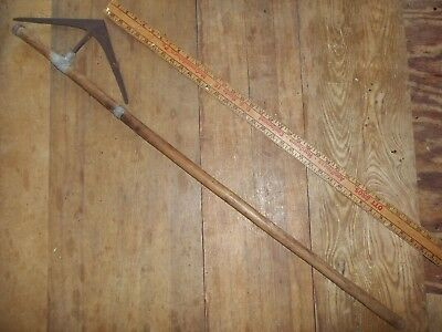 antique battleaxe fighting ax axe Zulu S Africa vintage old walking stick cane