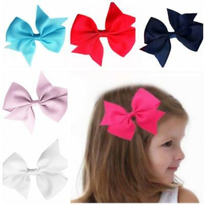 Girl Baby Kids Hair Bows Band Boutique Alligator Bow Hair Clip Grosgrain Ribbon