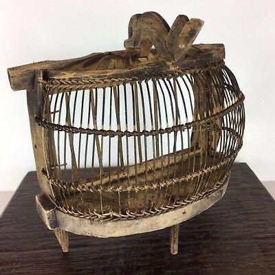 Antique Bird Cage Primitive Asian Indonesian Bird Cage Balinese Exotic Birdcage
