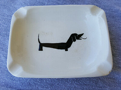 Vintage dachshund Dog Collectible Ashtray Dish c1950's Neat Item! LOOK! Bee Hive