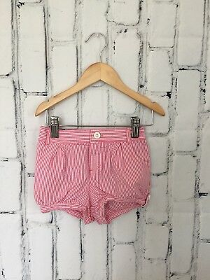 Baby Gap Toddler Girls Shorts Size 3T Pink White Stripped Cotton Pull On