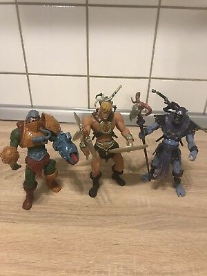 MASTERS OF THE UNIVERSE 200x He-man Skeletor Man At Arms MOTU HE MAN VINTAGE