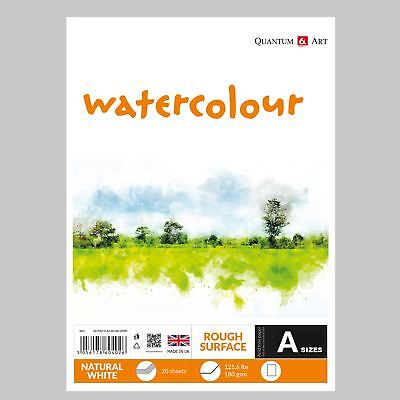 Watercolour Rough Surface Pad Drawing Artist Paper - GUMMED - Book - 180gsm