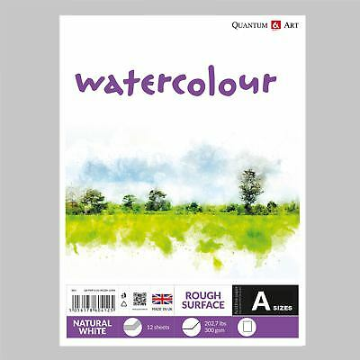 Watercolour Rough Surface Pad Drawing Artist Paper  - GUMMED - Book - 300gsm