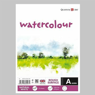 Watercolour Rough Surface Pad Drawing Artist Paper - GUMMED - Book - 220gsm