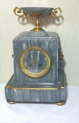 Antique Louis XVI Grey Marble Mantle / Mantel Clock Pierre Le Masson - Paris GWO