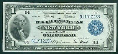 1918, USA Banknote ONE DOLLAR Federal Reserve Bank of New York (66)