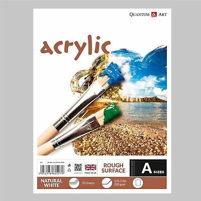 Acrylic Rough Surface Pad Drawing Artist Paper - GUMMED - Book - 200gsm