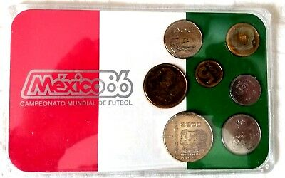 Mexico '86 World Cup Championship (FIFA) Mint Coin Set -- New in package