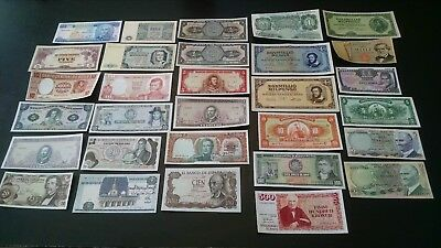 30 Higher End Different World Mix (Mixed) Foreign Banknote Currency Lot ,AU-Gems