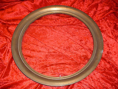 Vintage Round Window  11.75''  With Solid Brass Frame 14.5'' Outside Diameter
