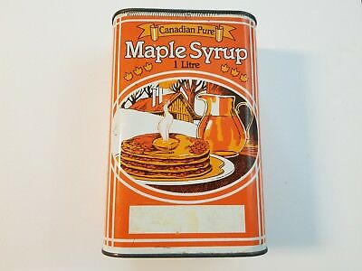 Vintage Canadian Pure Maple Syrup 2 Litre Tin Container