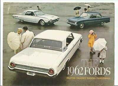 Original 1962 Ford full line sales brochure