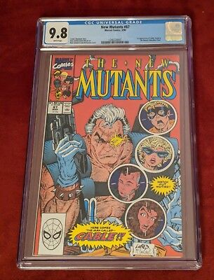 New Mutants #87 CGC 9.8 White Pages 1st Appearance of Cable $.99 Start Auction