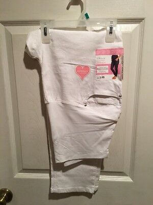 NWT~Great Expectations~MATERNITY~White Ankle Jeans~ X-LARGE (16-18)
