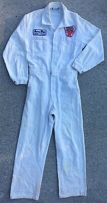 Vintage Race Racing Coveralls Jumpsuit Original Patches Workwear 36