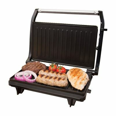 700w Electric Panini Press Grill Compact 2 Slice Non Stick with Floating Hinge