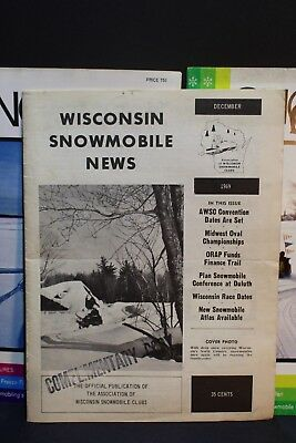 Vintage 1969 Wisconsin Snowmobile News 1970 1971 Snow Sport Magazines Rohde Ent