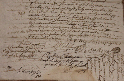 1745 manuscript justice sentence letter AMAZING Signing ROYAL NOTARY WOV stamp