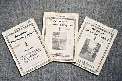 American Cinematographer Magazine March 1926, January 1927, March 1927,