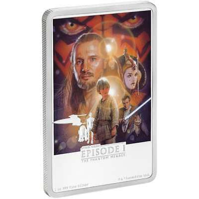 STAR WARS - THE PHANTOM MENACE - POSTER - 2018 1 oz Pure Silver Coin NZ MINT