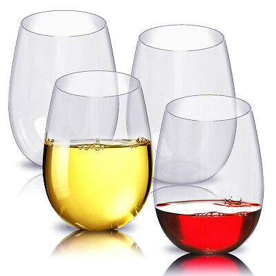 4pcs Best Silicone Wine Glass Unbreakable Stemless Rubber Beer Pool Party Cup