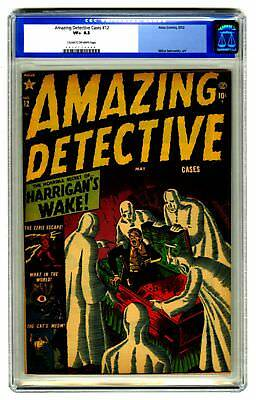 Amazing Detective Cases #12 CGC 8.5 HIGH GRADE Atlas Comic OLD LABEL VINTAGE