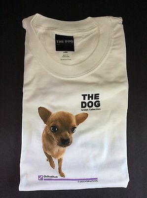 New The Dog CHIHUAHUA T-SHIRT ~ White Adult Large Short-sleeve ~ NEW