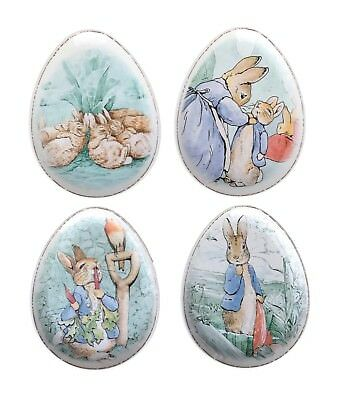 Pottery Barn Kids Peter Rabbit Beatrix Potter Plates Oval Egg Shaped Set Of 4